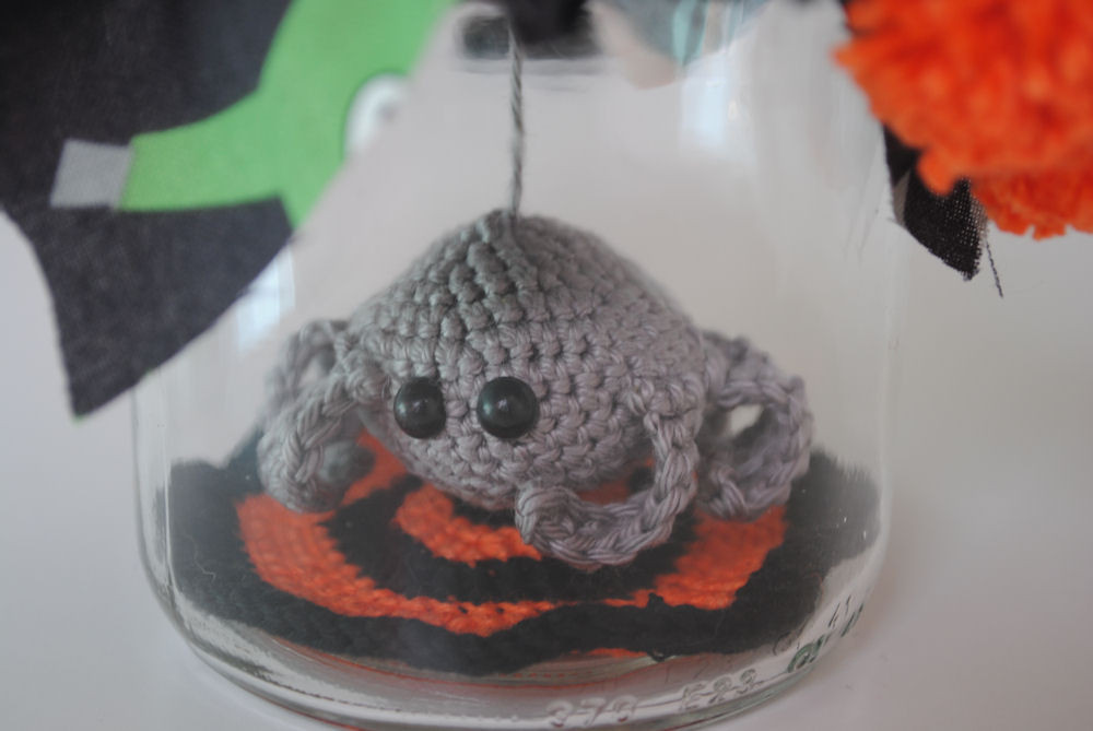 Awesome Fun and Fang Free Pattern Spider In Jar Crochet Spider Of Amazing 49 Models Crochet Spider