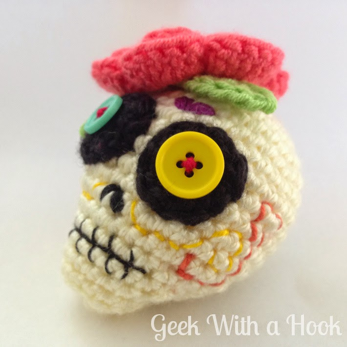 Awesome Geek with A Hook Day the Dead Sugar Skull Free Crochet Sugar Skull Of Incredible 47 Pictures Crochet Sugar Skull