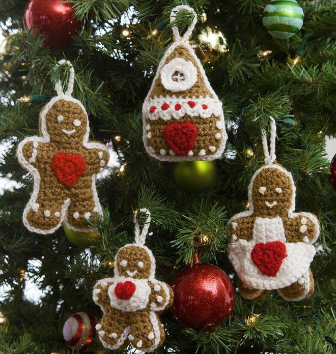 Awesome Gingerbread Family Crochet Christmas ornaments Crochet Christmas Decorations Of Perfect 50 Ideas Crochet Christmas Decorations