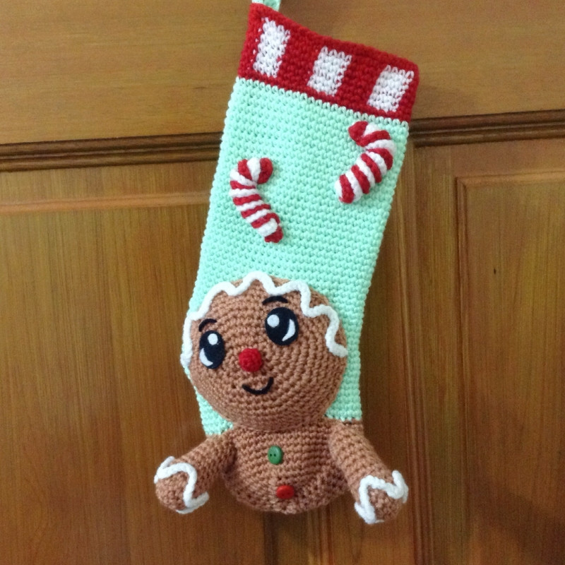 Awesome Gingerbread Man Christmas Stocking Crochet Pattern Crochet Christmas Stockings Of Contemporary 48 Pics Crochet Christmas Stockings