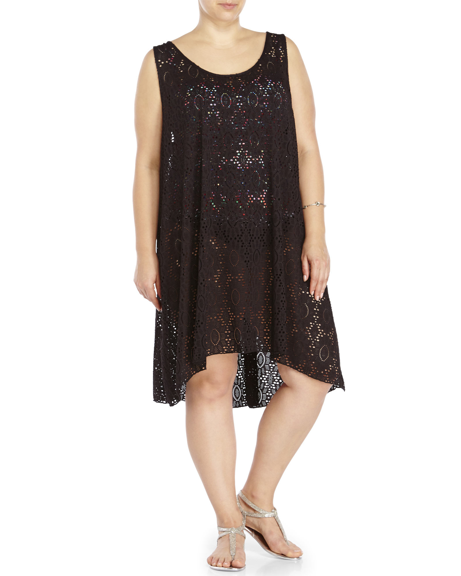 Awesome Gottex Plus Size Black Crochet Cover Up Dress In Black Black Crochet Cover Up Of Superb 42 Images Black Crochet Cover Up