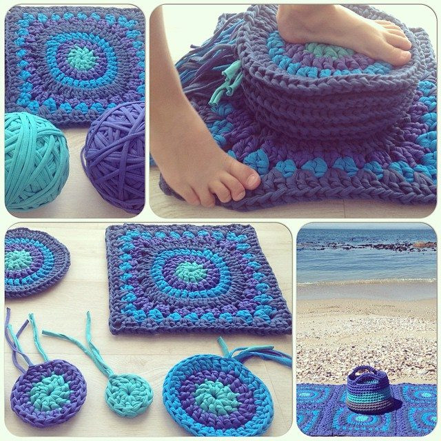 Awesome Granny Square Day 2015 and More Awesomeness On Instagram T Shirt Rug Crochet Of Amazing 48 Pics T Shirt Rug Crochet