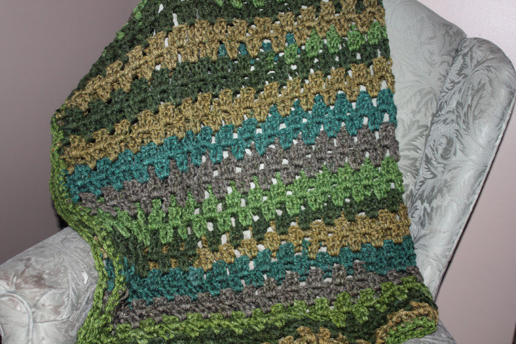 Awesome Granny Stripe Small Crochet Throw with Caron Tea Cakes Caron Tea Cakes Crochet Patterns Of Beautiful Caron Tea Cakes™ Crochet Winter Scarf In Spiced Cider Caron Tea Cakes Crochet Patterns