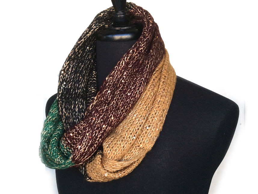 Awesome Green Gold Black Green Yarn Knit Infinity Scarf Az Mul2 Black and Gold Yarn Of Superb 46 Images Black and Gold Yarn