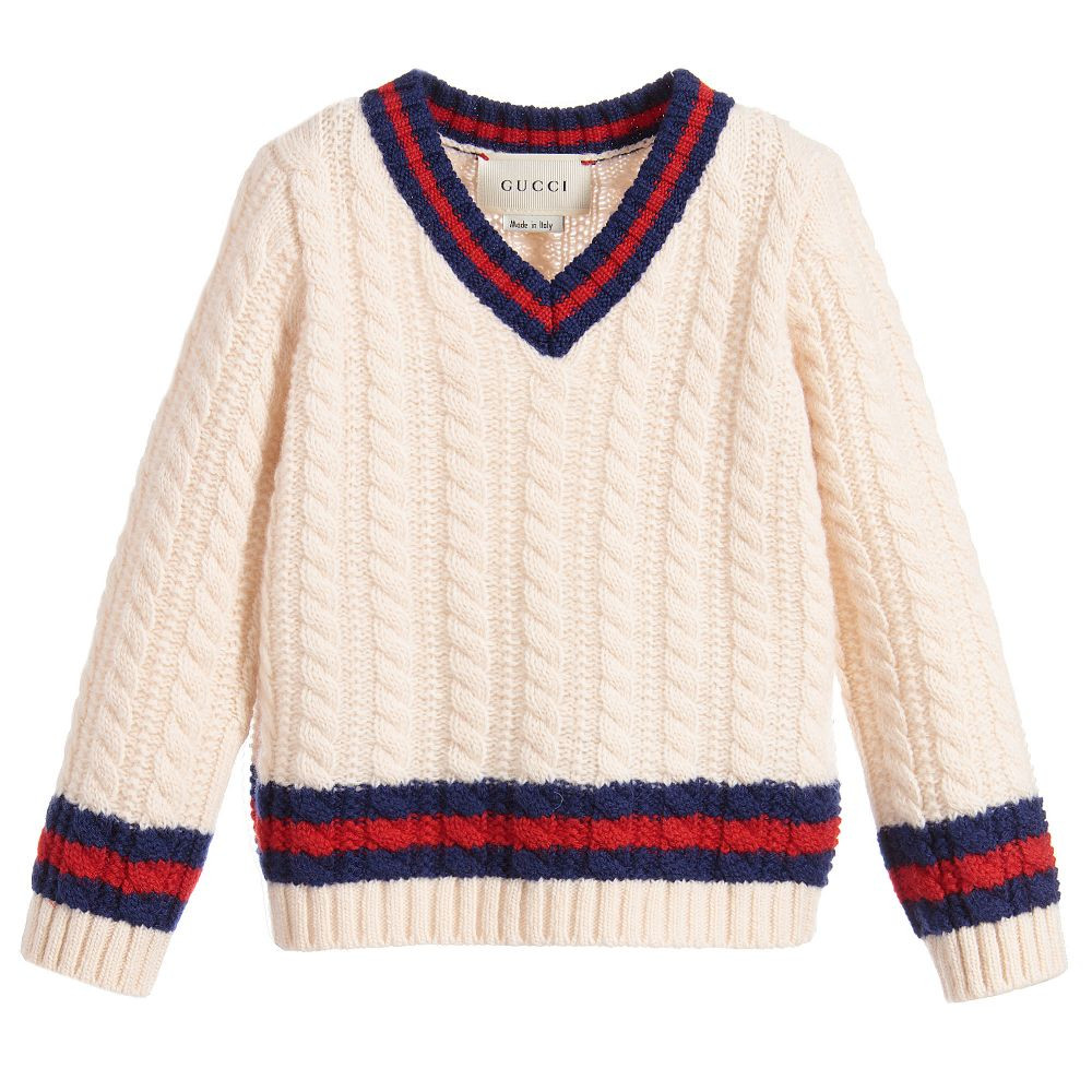Awesome Gucci Boys Ivory Cable Knit Sweater Boys Knit Sweater Of Lovely 50 Models Boys Knit Sweater