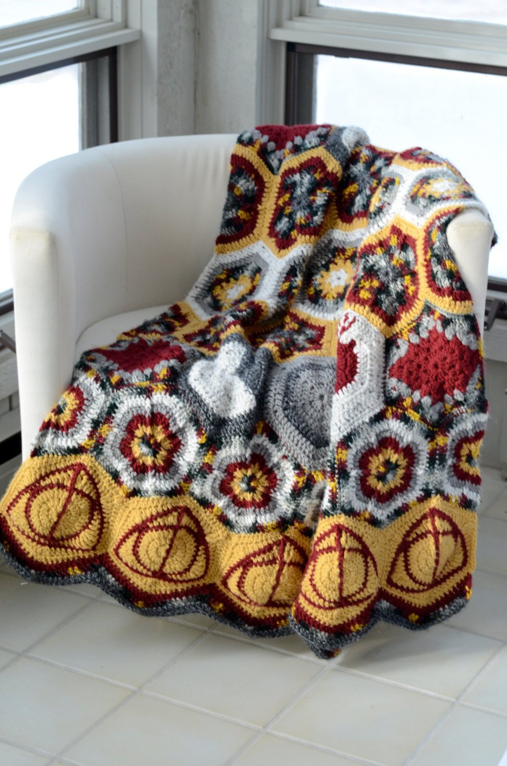 Awesome Hallows and Marauders Afghan Crochet Pattern Instant Download Harry Potter Crochet Blanket Of Luxury 42 Models Harry Potter Crochet Blanket