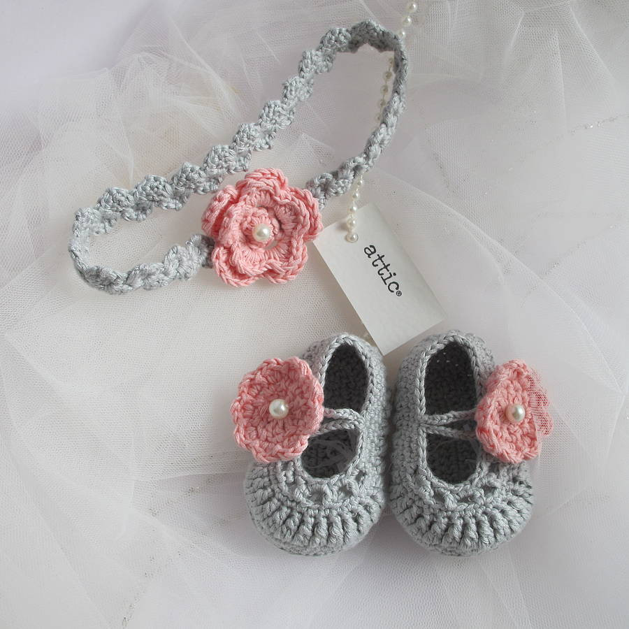 Awesome Hand Crochet Baby Shoes with Headband by attic Crochet Headband for Babies Of Charming 46 Models Crochet Headband for Babies