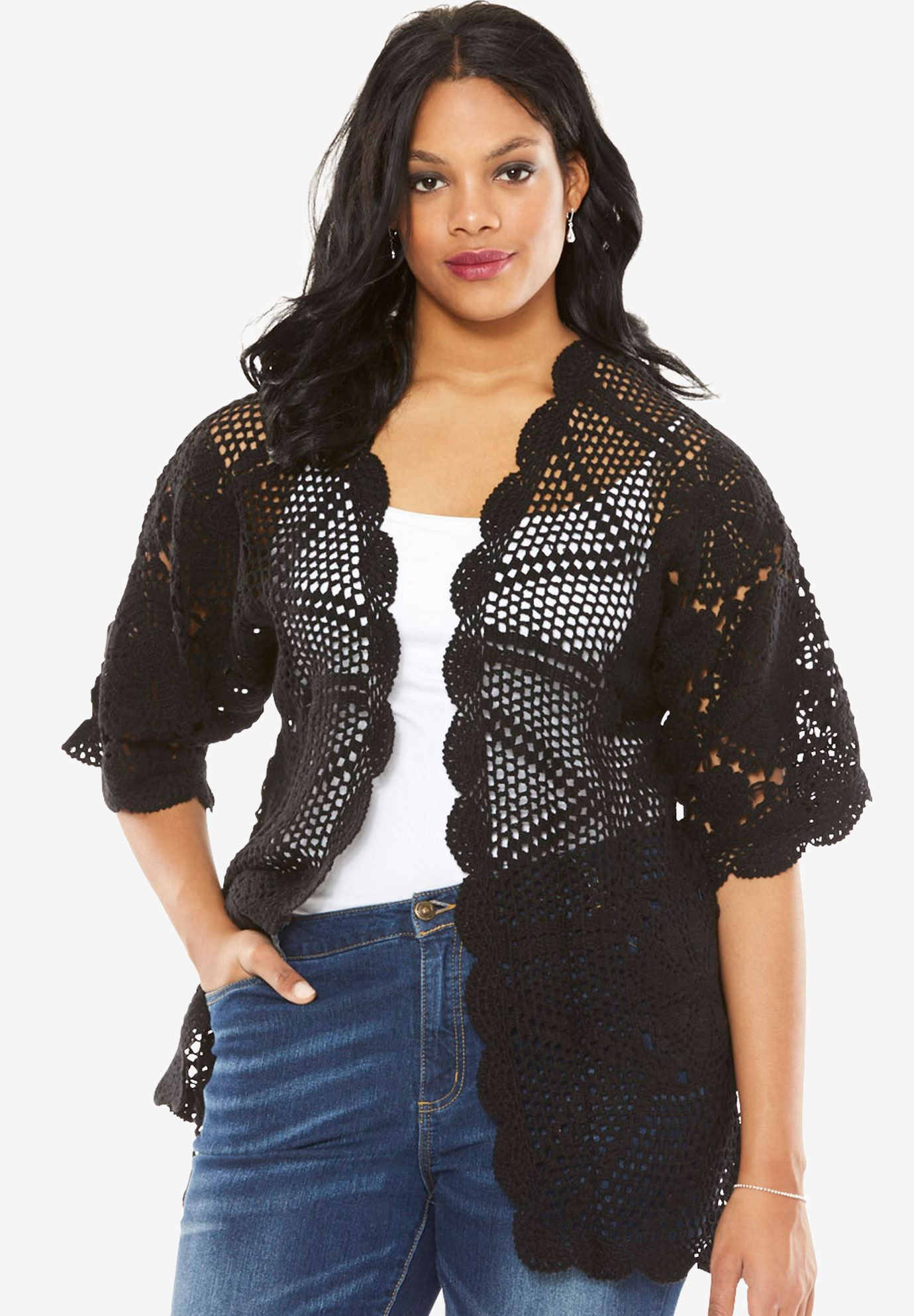 Awesome Hand Crocheted Lace Cardigan Plus Size Cardigans Plus Size Crochet Cardigan Of Delightful 41 Models Plus Size Crochet Cardigan