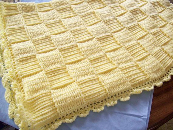 Awesome Hand Crocheted Yellow Basket Weave Baby Blanket Free Shipping Basket Weave Crochet Blanket Of Great 49 Pictures Basket Weave Crochet Blanket