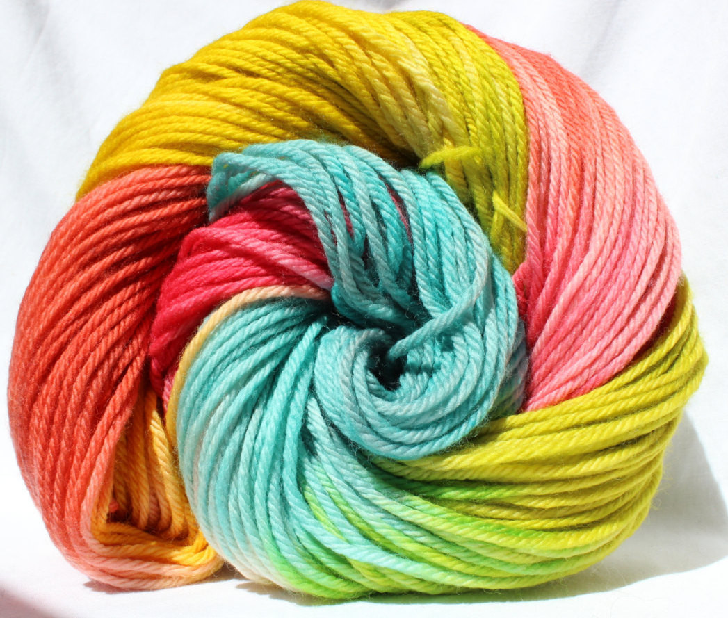 Awesome Hand Dyed Yarn Aqua Pink Coral Yellow Yarn Variegated Yellow Variegated Yarn Of Charming 49 Ideas Yellow Variegated Yarn