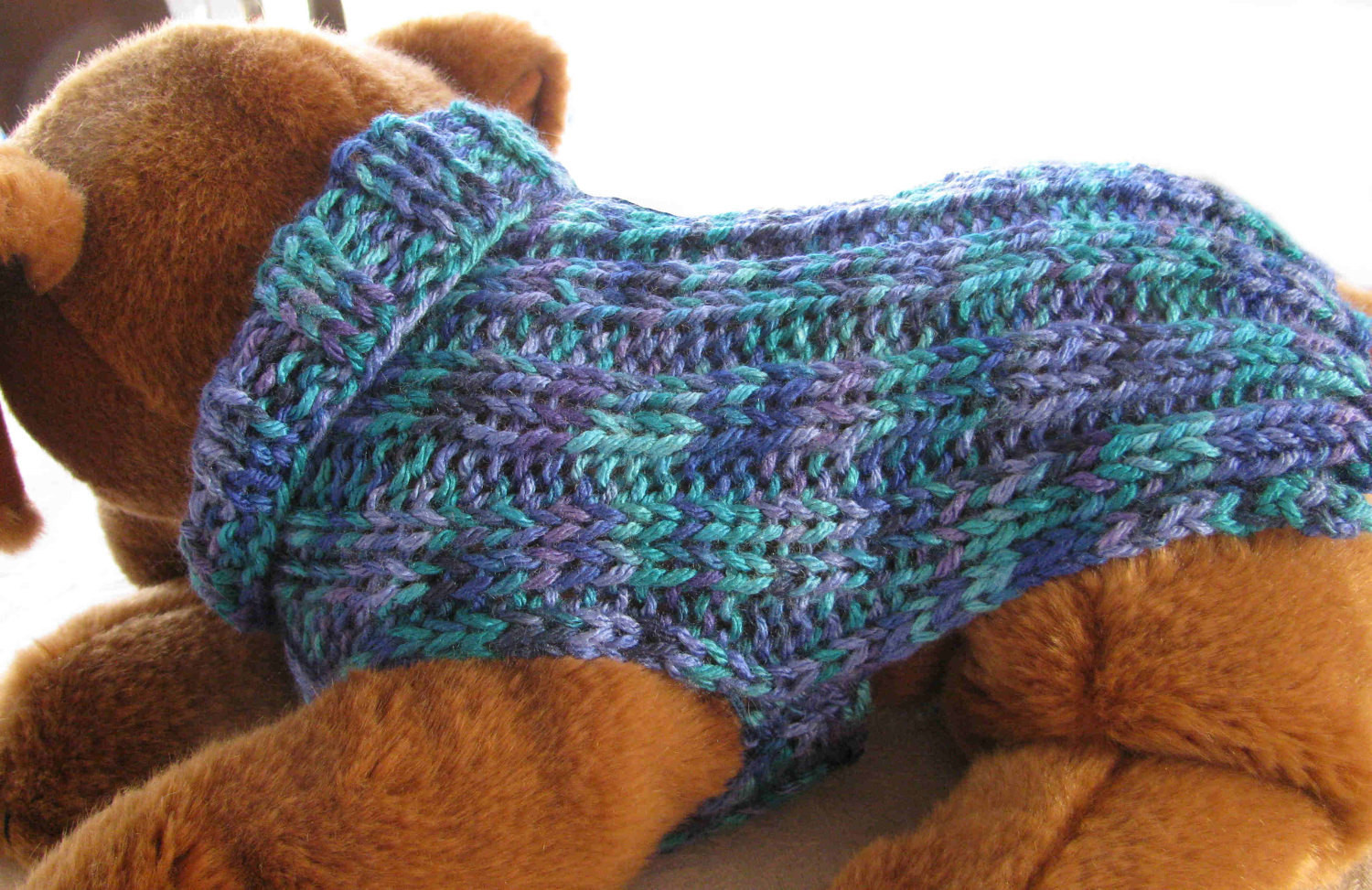 Awesome Hand Knit Dog Sweater Colors Of the Sea Ribbed for by Knitting Patterns for Dog Sweaters for Beginners Of Luxury 41 Pictures Knitting Patterns for Dog Sweaters for Beginners