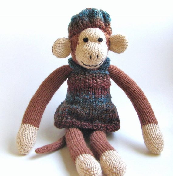Awesome Hand Knit Monkey In Dress & Hat Stuffed Animal Girl by Knit Stuffed Animals Of Beautiful 47 Pics Knit Stuffed Animals