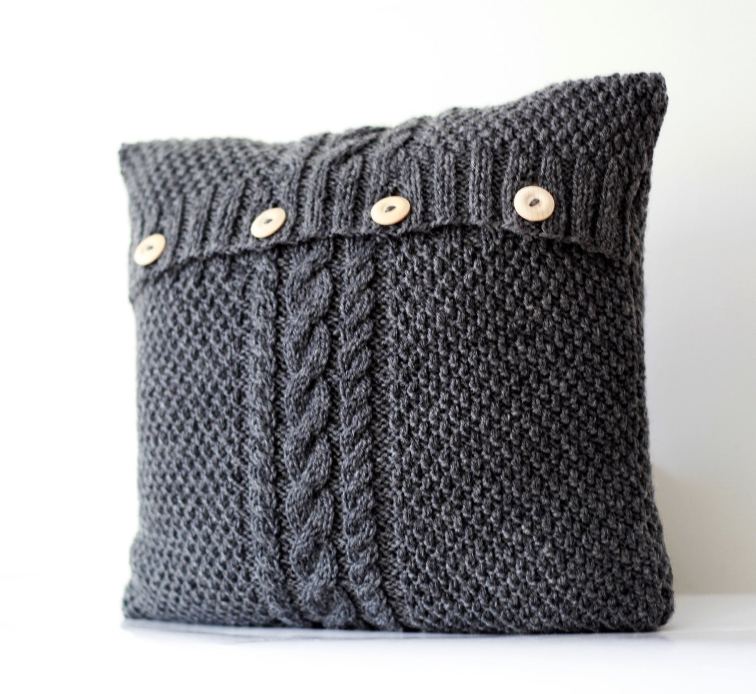 Awesome Hand Knitted Gray Pillow Cover Cable Hand Knit Decorative Cable Knit Pillow Cover Of Top 41 Pictures Cable Knit Pillow Cover