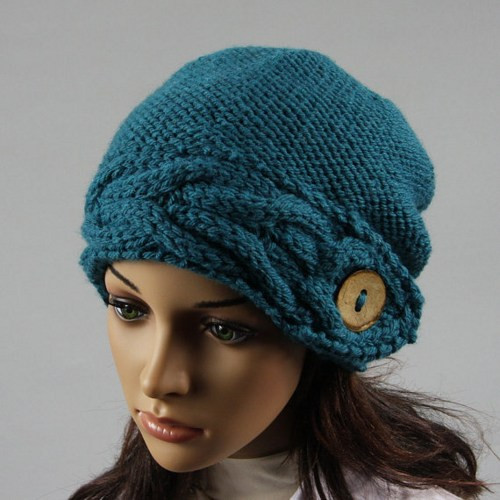 Hand knitted la s slouchy beanie Hat available in many