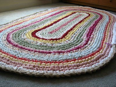 Awesome Handmade Rugs by Kybluejean On Pinterest Crochet Rug with Fabric Strips Of Adorable 46 Images Crochet Rug with Fabric Strips