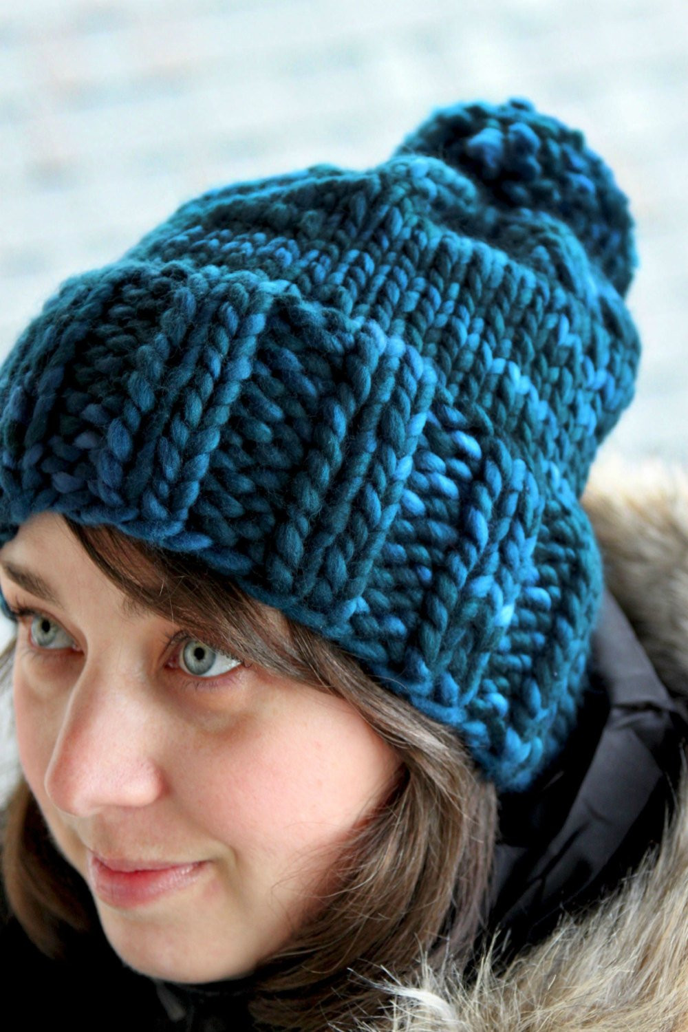 Awesome Hannah Hat Knitting Pattern Chunky Ribbed Bulky Pom Pom Bulky Yarn Knitting Patterns Of Innovative 44 Ideas Bulky Yarn Knitting Patterns
