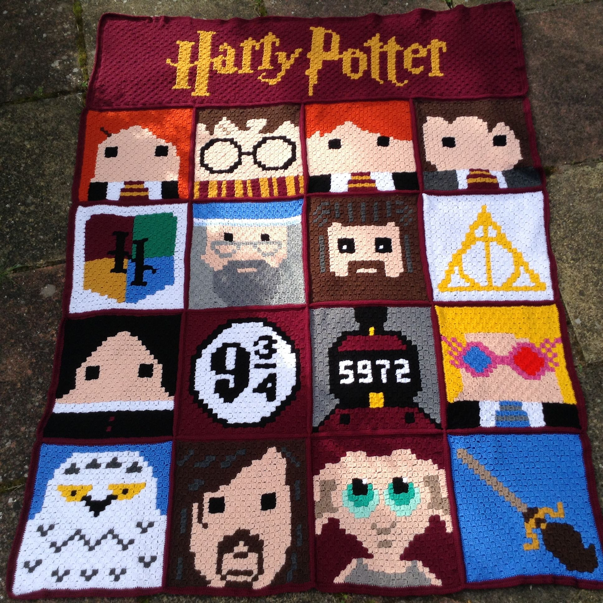 Awesome Harry Potter C2c Blanket 3 Months In the Making Mostly Harry Potter Crochet Blanket Of Luxury 42 Models Harry Potter Crochet Blanket