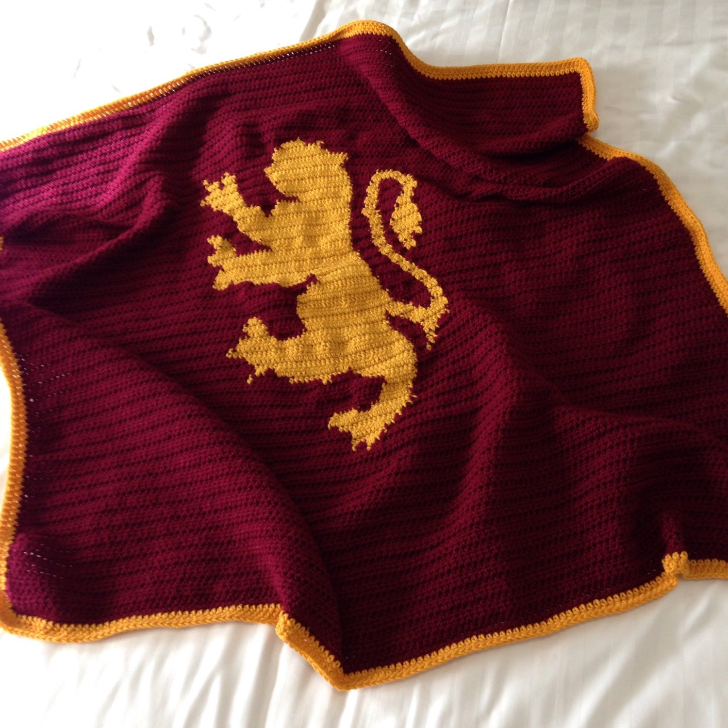 Awesome Harry Potter Crochet Throw Blanket Gryffindor by Harry Potter Crochet Blanket Of Luxury 42 Models Harry Potter Crochet Blanket