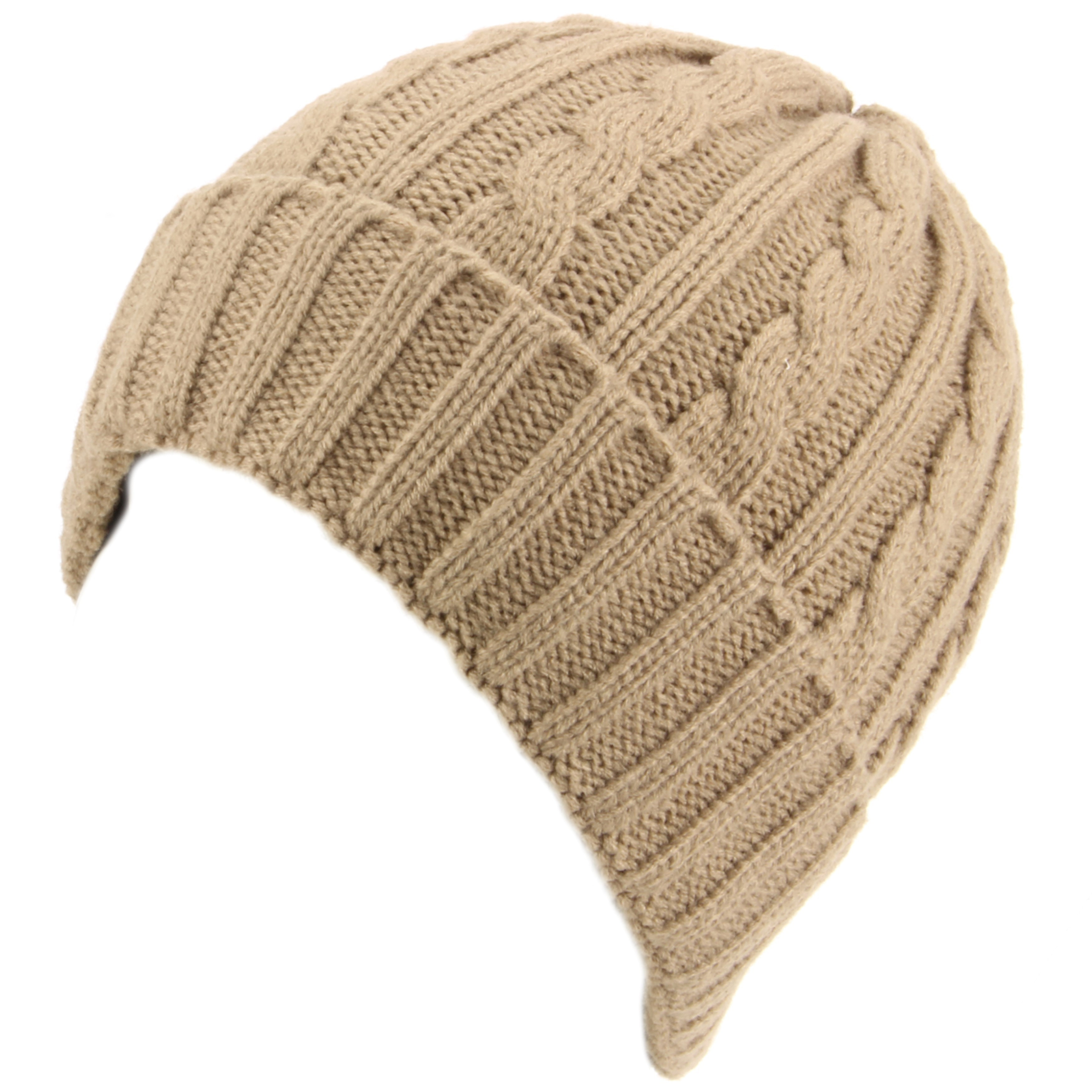Awesome Hawkins Cable Knit Beanie Hat with Turn Up Beige Cable Hat Of Superb 40 Pictures Cable Hat
