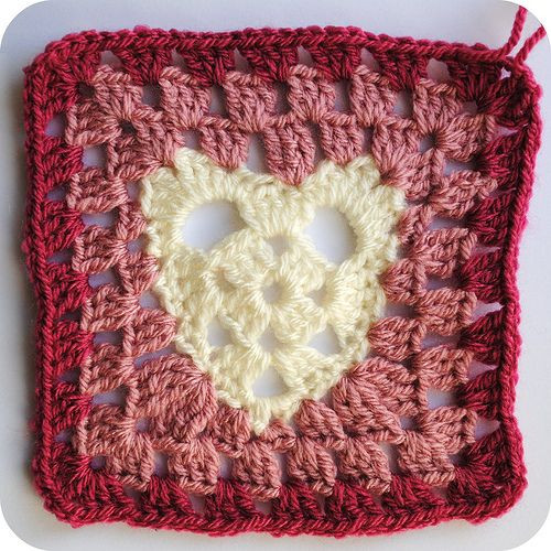 Awesome Heart Granny Square A Pattern Please Note This Heart Granny Square Of Brilliant 41 Pictures Heart Granny Square