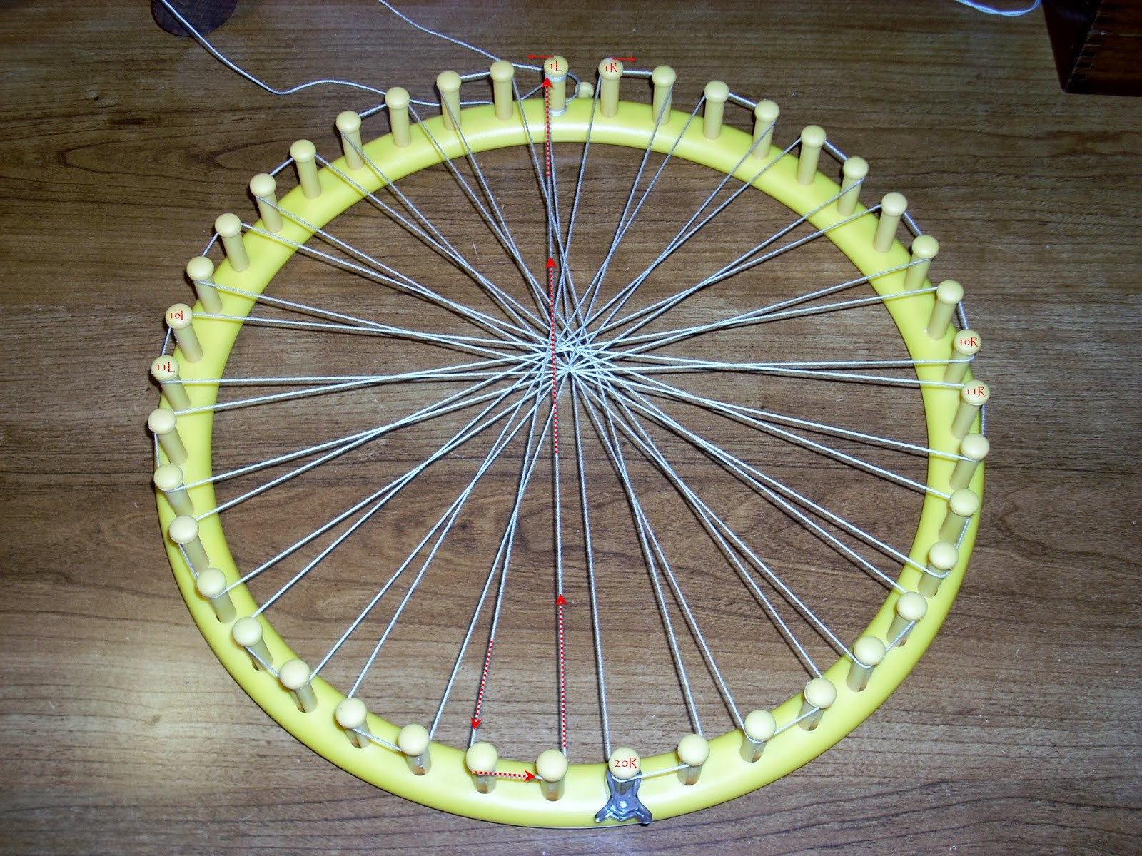 Awesome Heartsong Studio Warping A Knifty Knitter Loom for Circle Loom Knitting Of Superb 50 Images Circle Loom Knitting