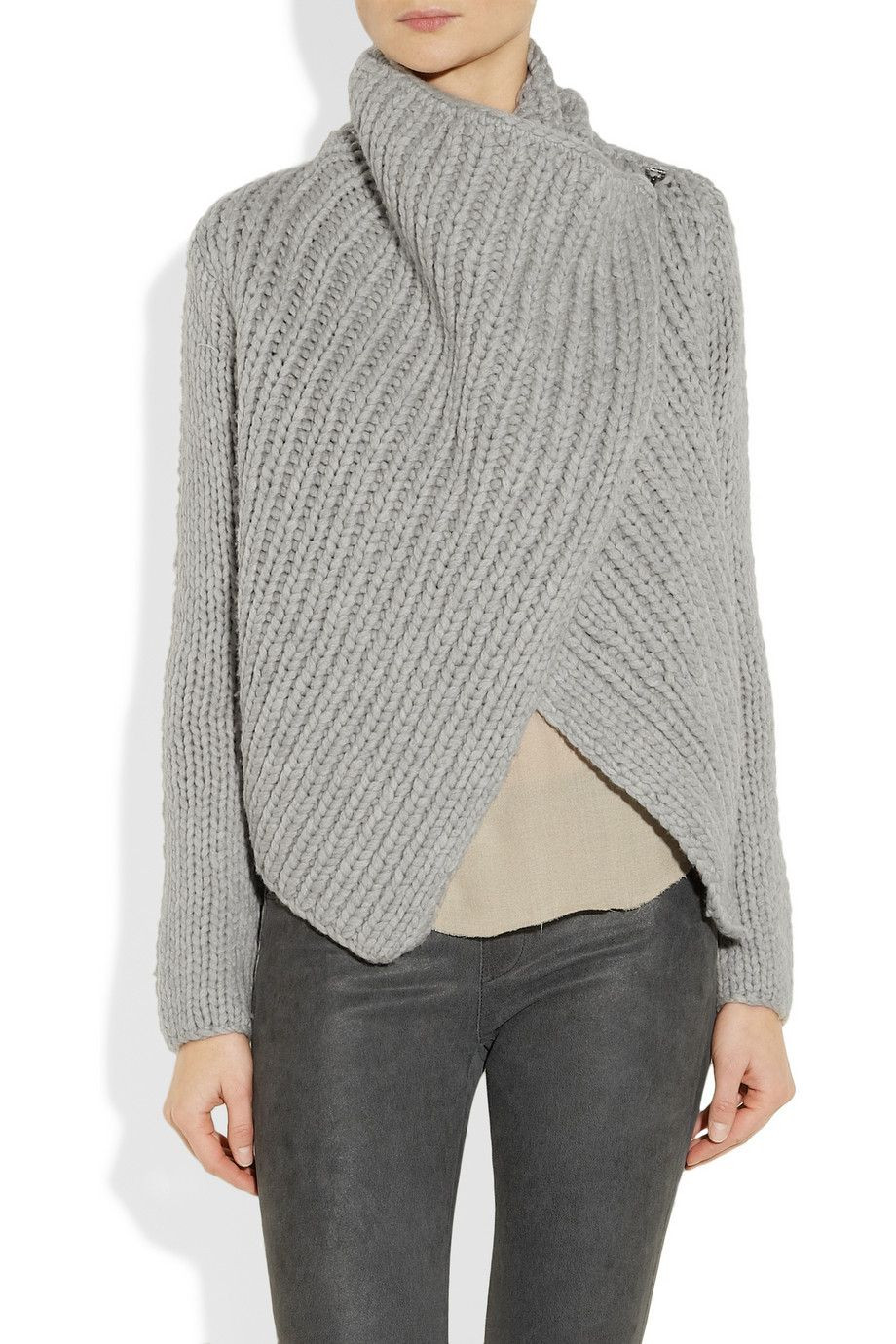 Awesome Helmut Lang Bulky Rib Knit Sweater Love the Easy Wrap Easy Knit Sweater Of Brilliant 50 Images Easy Knit Sweater