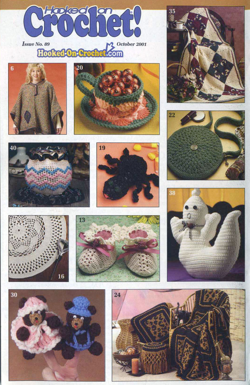 Awesome Hooked On Crochet Patterns 89 October 2001 Patterns Hooked On Crochet Of Wonderful 44 Models Hooked On Crochet