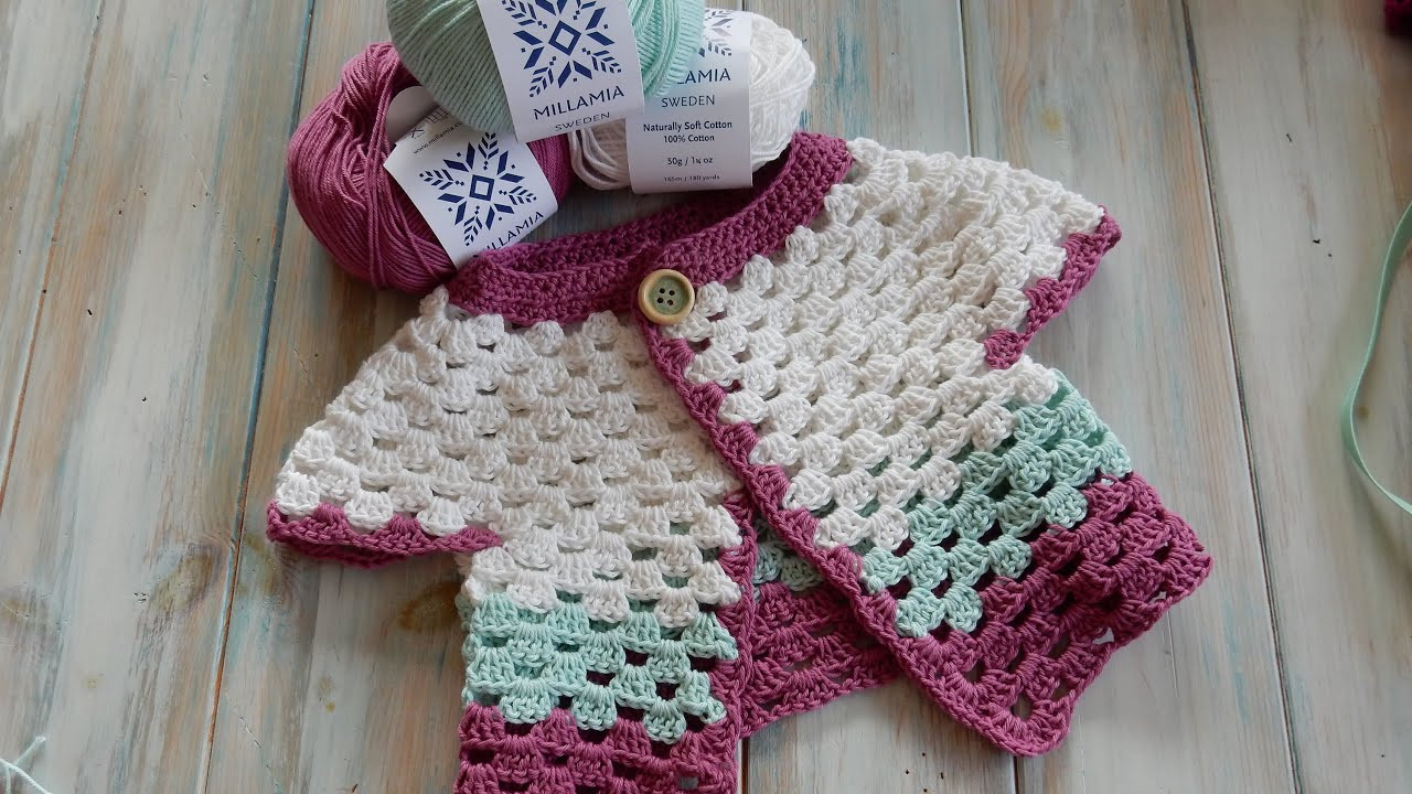 Awesome How to Crochet A Baby Cardigan 0 6 Months Millamia Yarn Free Beginner Crochet Baby Sweater Patterns Of Lovely 41 Models Free Beginner Crochet Baby Sweater Patterns