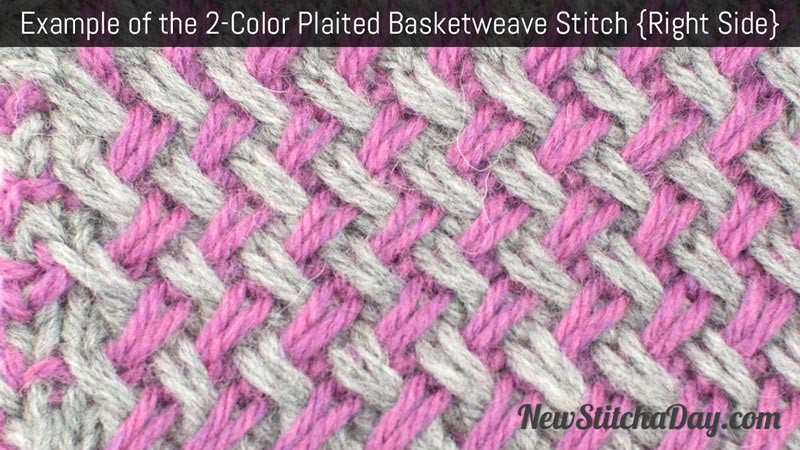 Awesome How to Knit the Two Color Plaited Basketweave Stitch Basket Stitch Of Lovely 48 Models Basket Stitch