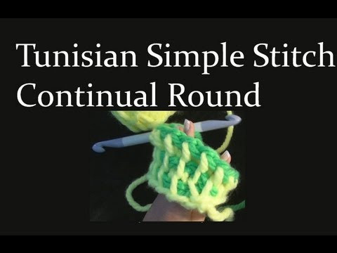Awesome How to Make Tunisian Simple Stitch Crochet In the Round Tunisian Crochet In the Round Of New 46 Models Tunisian Crochet In the Round