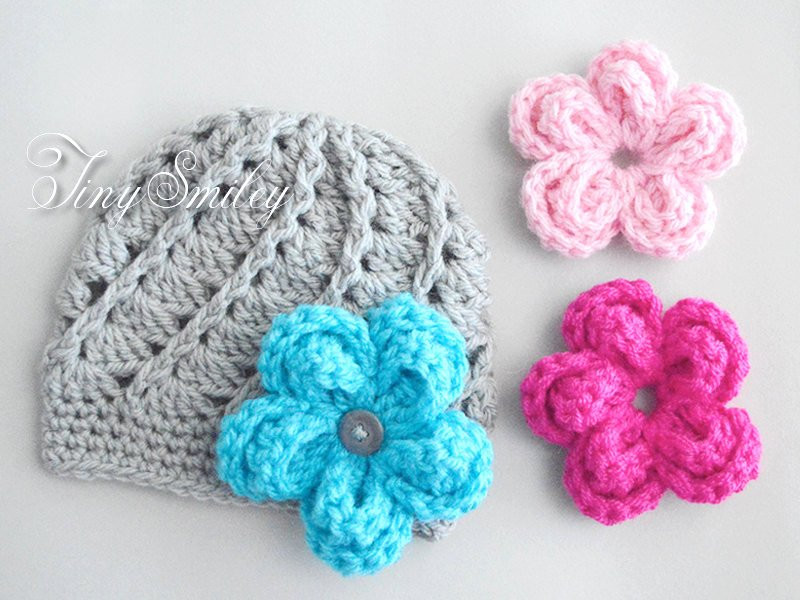 Awesome Interchangeable Crochet Flower Hat Gray Baby Girl Hat with Crochet Flower for Hat Of Beautiful 45 Photos Crochet Flower for Hat