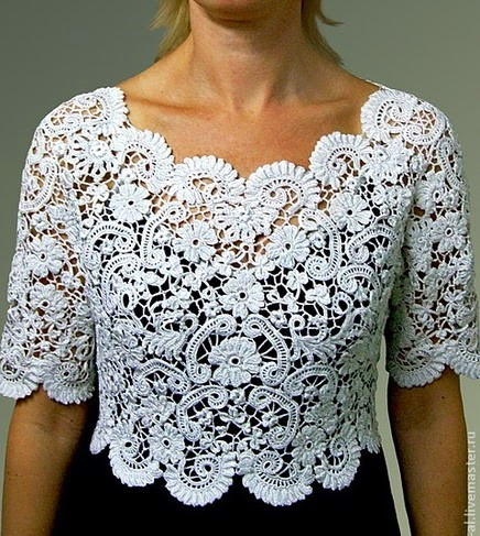 Irina Irish Lace Crochet Top