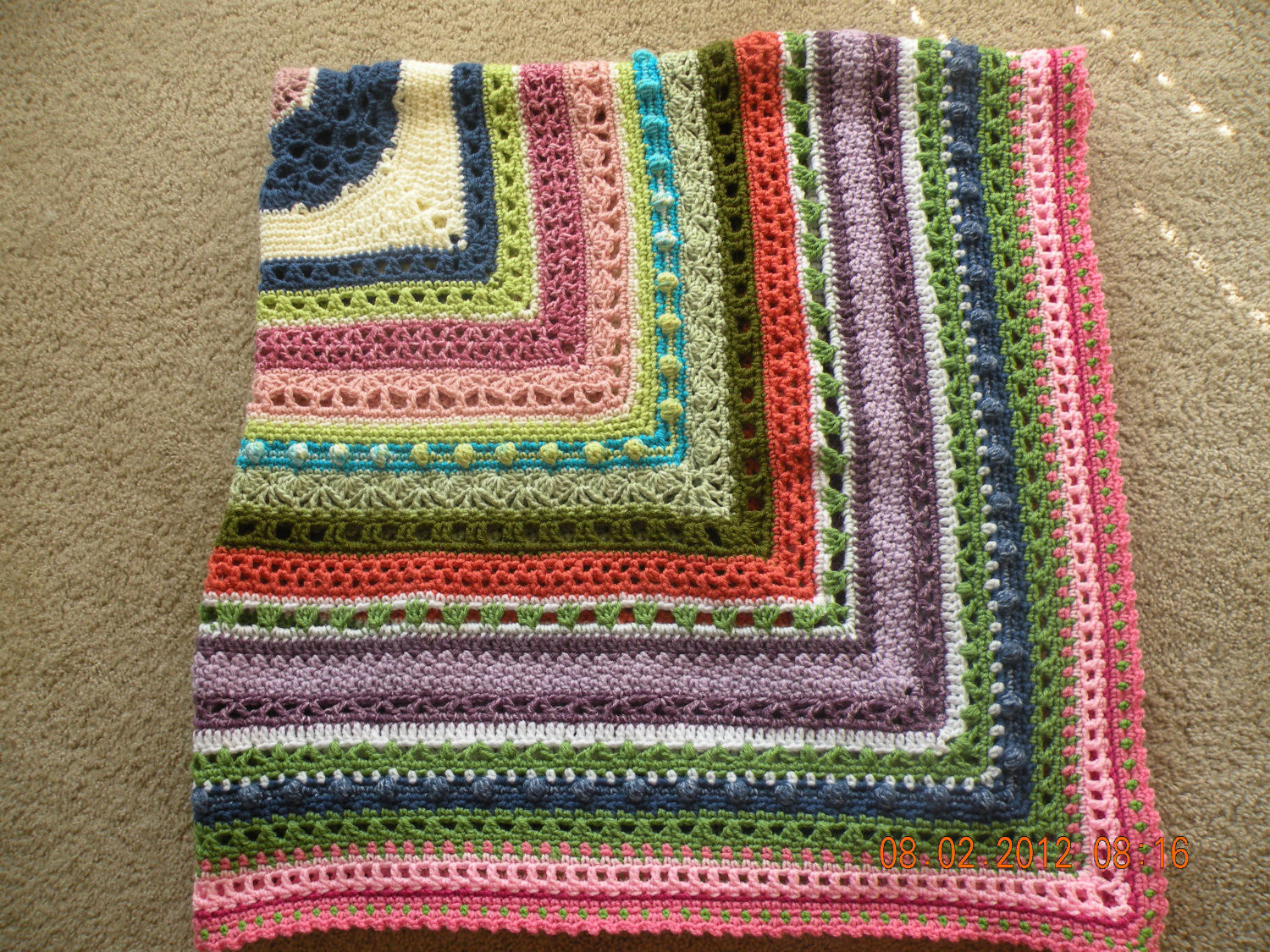 Awesome Items Similar to Beautiful Crochet Sampler Afghan On Etsy Crochet Sampler Afghan Of Attractive 47 Pictures Crochet Sampler Afghan