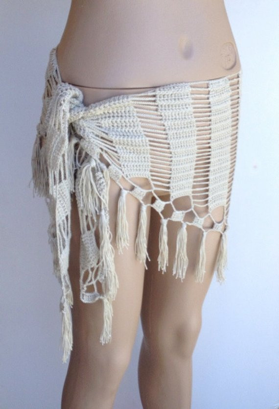 Awesome Items Similar to Beige Pareo Swimsuit Cover Up Women Crochet Sarong Of Adorable 35 Photos Crochet Sarong