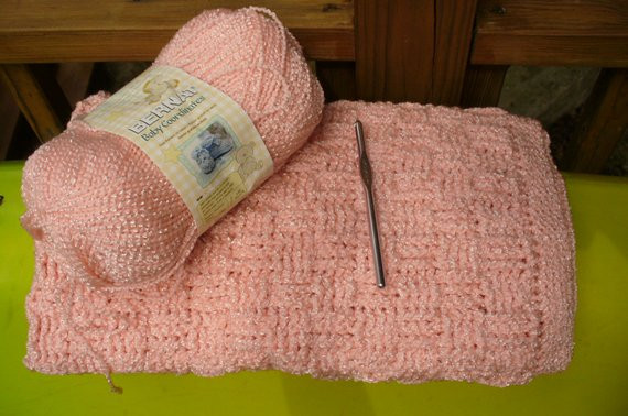 Awesome Items Similar to Cozy and soft Crocheted Basket Weave Baby Basket Weave Crochet Baby Blanket Of Brilliant 46 Photos Basket Weave Crochet Baby Blanket