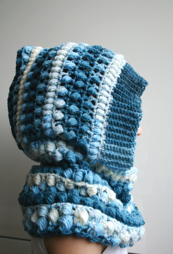 Awesome Items Similar to Crochet Pattern Crochet Hooded Scarf Crochet Poncho with Hood Of Fresh 40 Pictures Crochet Poncho with Hood