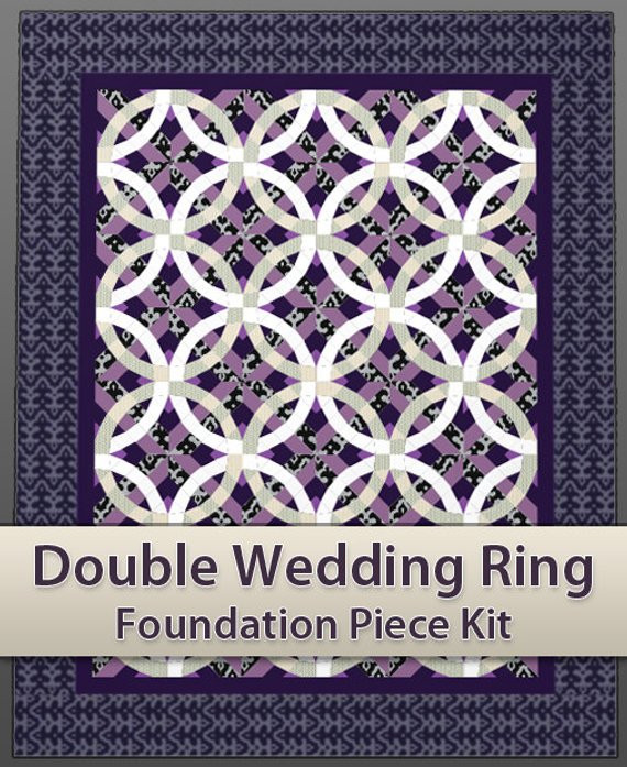 Awesome Items Similar to Easy Double Wedding Ring Quilt Piecing Double Wedding Ring Of Perfect 40 Photos Double Wedding Ring