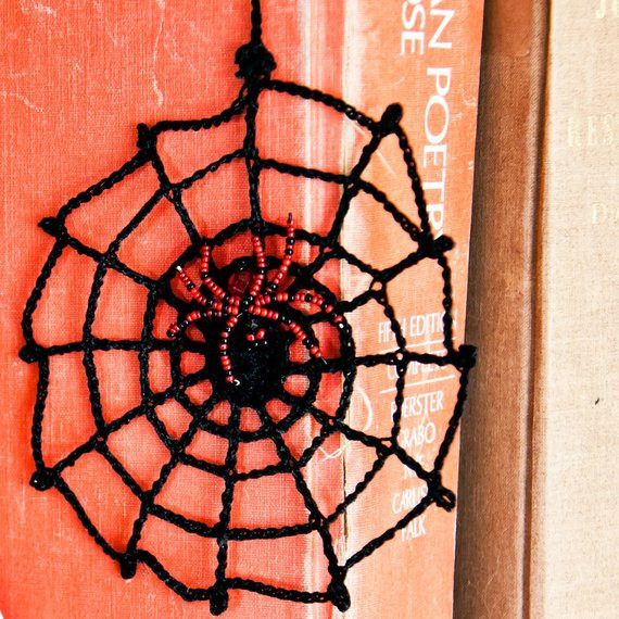 Awesome Items Similar to Halloween Spider Web Crochet with Beaded Crochet Spider Web Of Beautiful 48 Models Crochet Spider Web