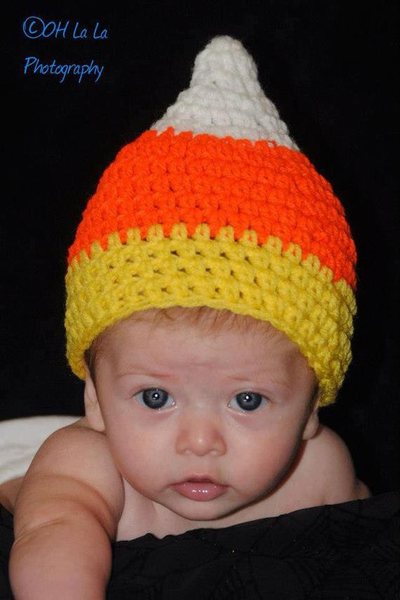 "Awesome Items Similar to Hand Crocheted ""candy Corn"" Beanie Cap Candy Corn Hat Of Incredible 42 Pictures Candy Corn Hat"