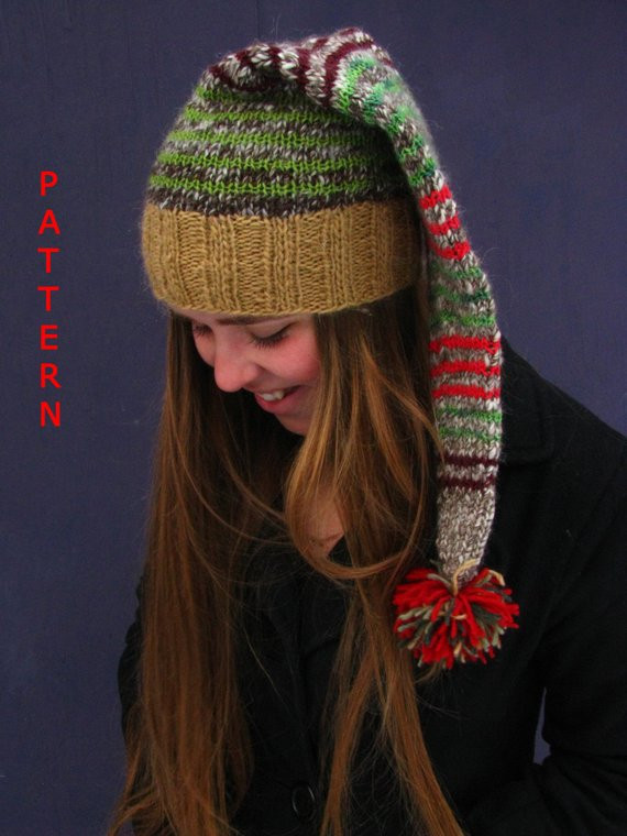 Awesome Items Similar to Knitting Pattern Santa Christmas Hat or Santa Hat Pattern Of Awesome This Chunky Knit Santa Hat Will Be the Coziest Thing You Santa Hat Pattern