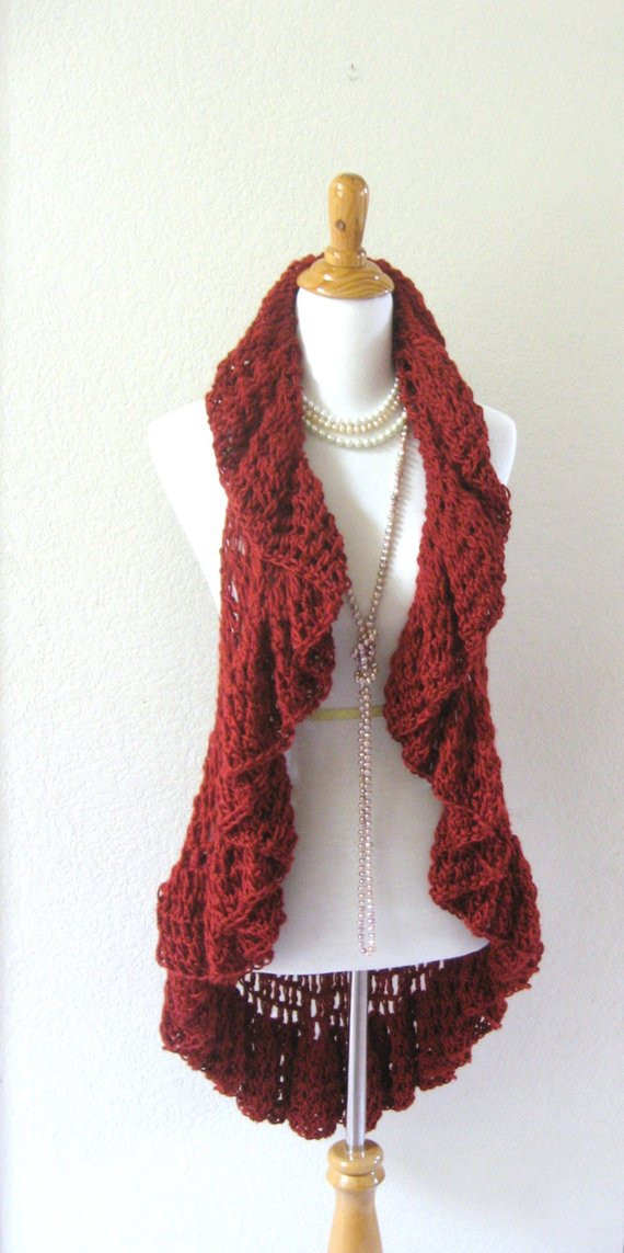 Awesome Items Similar to Red Crochet Vest Hippie Crochet Vest Crochet Boho Vest Pattern Of Incredible 44 Photos Crochet Boho Vest Pattern