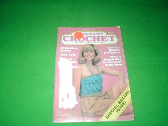Awesome Items Similar to Vintage Crochet Magazine Quick and Easy Quick and Easy Crochet Magazine Of Amazing 40 Models Quick and Easy Crochet Magazine