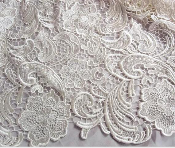 Awesome Ivory Lace Fabric Crochet Lace Fabric Bridal Lace Crochet Lace Fabric Of Attractive 45 Images Crochet Lace Fabric