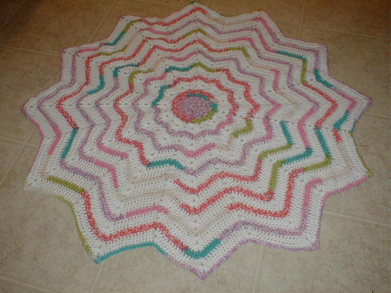 Awesome Karens Crocheted Garden Of Colors 12 Point Round Ripple Round Crochet Blanket Of Fresh 46 Models Round Crochet Blanket