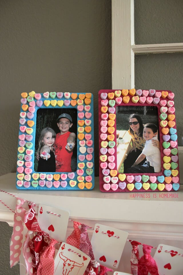 Awesome Kids Craft Candy Heart Frames Happiness is Homemade Picture Frame Crafts for Kids Of Adorable 48 Models Picture Frame Crafts for Kids