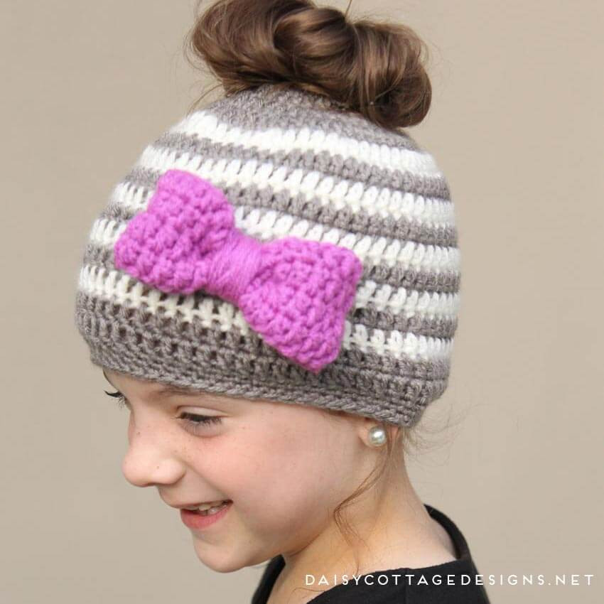 Awesome Kids Messy Bun Hat Crochet Pattern Daisy Cottage Designs Messy Bun Beanie Pattern Of Great 44 Pics Messy Bun Beanie Pattern