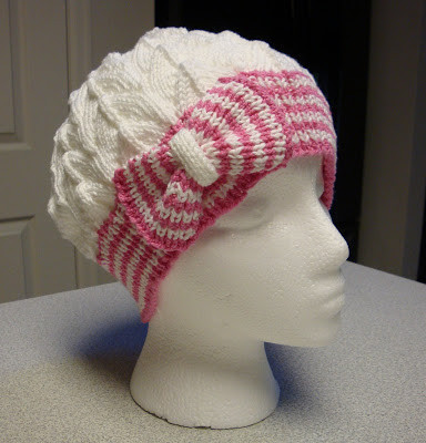 Awesome Kim S Knitting Korner Cutest Hat Ever Bow Tie Cloche Knitted Chemo Hats Of Incredible 50 Models Knitted Chemo Hats