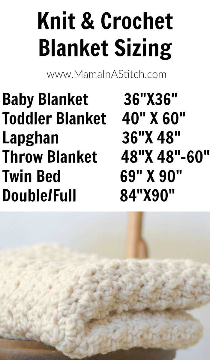 Awesome Knit & Crochet Blanket Sizing Guide – Mama In A Stitch Baby Blanket Size Crochet Of Contemporary 49 Pictures Baby Blanket Size Crochet