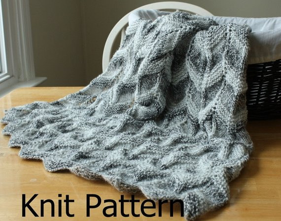 Awesome Knit Baby Blanket Pattern Knit Chevron Baby Blanket Easy Knit Afghan Patterns Of Great 40 Pictures Easy Knit Afghan Patterns