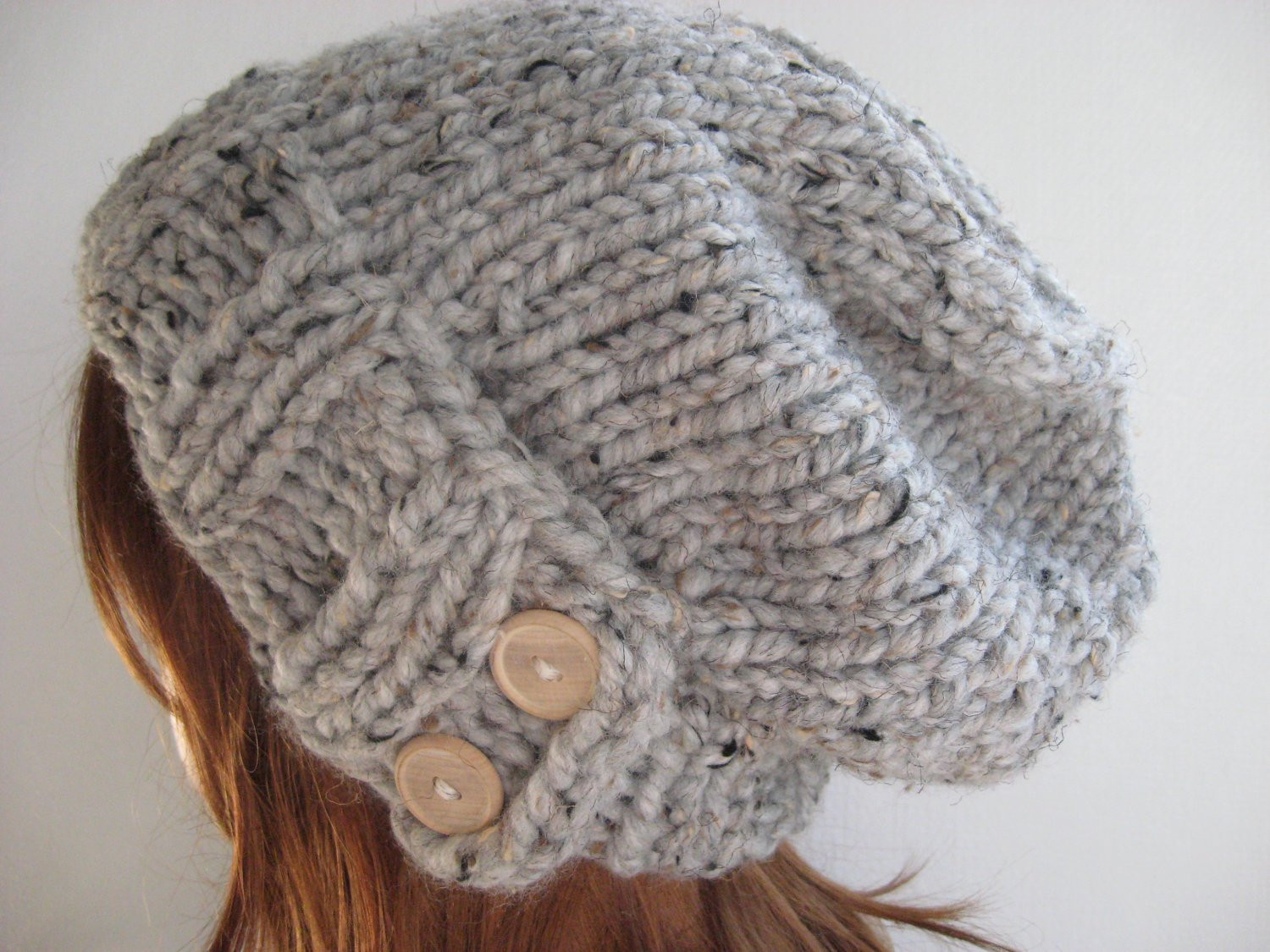 Knit Hat Women Knit Hat Slouchy Knit Hat Chunky Knit Wool